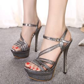 Ericdress Open Toe Ankle Strap Platform Stiletto Sandals