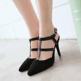Ericdress T Strap Point Toe Stiletto Sandals