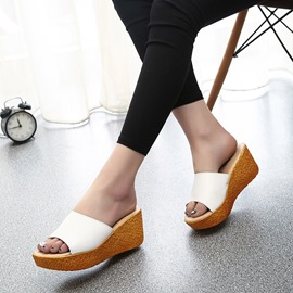 Ericdress Simple Pu Mules Shoes