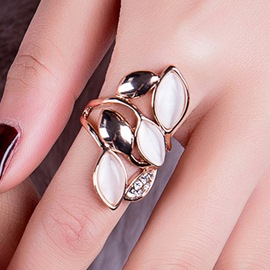 Ericdress Splendid Rose Golden Ring