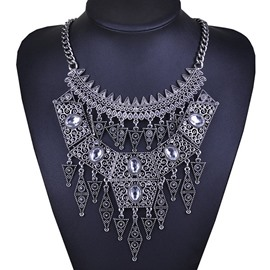 Ericdress Bohemian Vintage Diamante Necklace