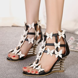 Ericdress Pretty PU Butterfly Wedge Sandals