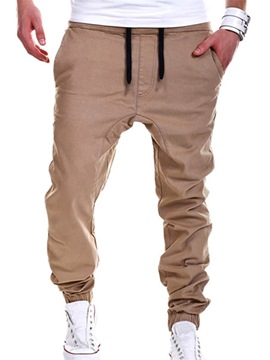 Ericdress Solid Color Loose Casual Men's Pants
