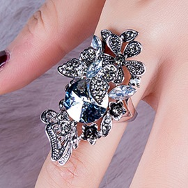 Ericdress Vintage Style Butterfly Rhinestone Ring