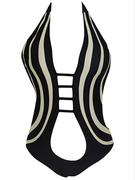 Ericdress Stripe Hollow Sexy Monokini
