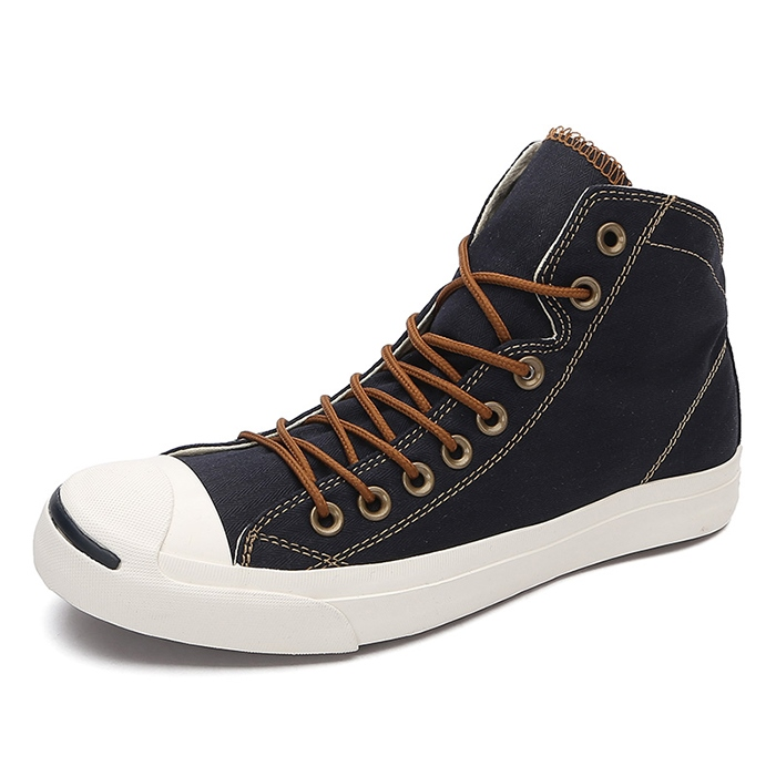 Ericdress Fashion Mid-Cut Lace-Up Mens Canvas Shoes