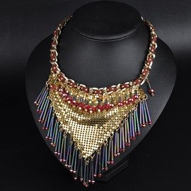 Ericdress Exaggerate Crystal Tassel Necklace