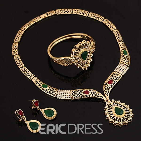 Sunshine Golden Four-Piece Jewelry Set