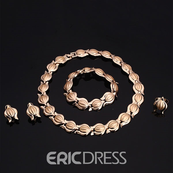 Ericdress Tulip Design Four-Piece Jewelry Set