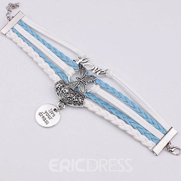 Ericdress Vintage Butterfly Weaved Bracelet