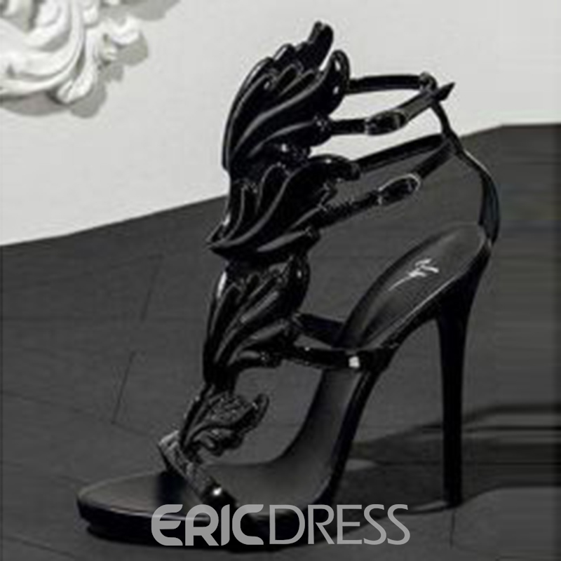Ericdress Strappy T-Shaped Buckle Open Toe Women's Sandals