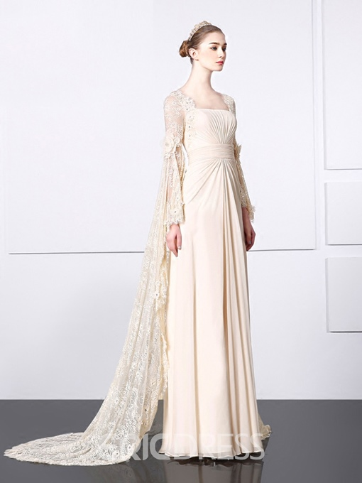 Ericdress Long Sleeves Vintage Lace Evening Dress