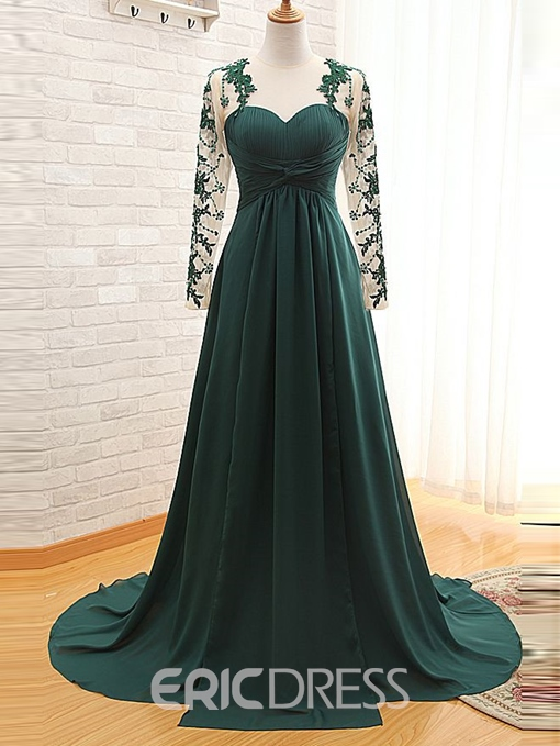 Ericdress A-Line Long Sleeves Evening Dress