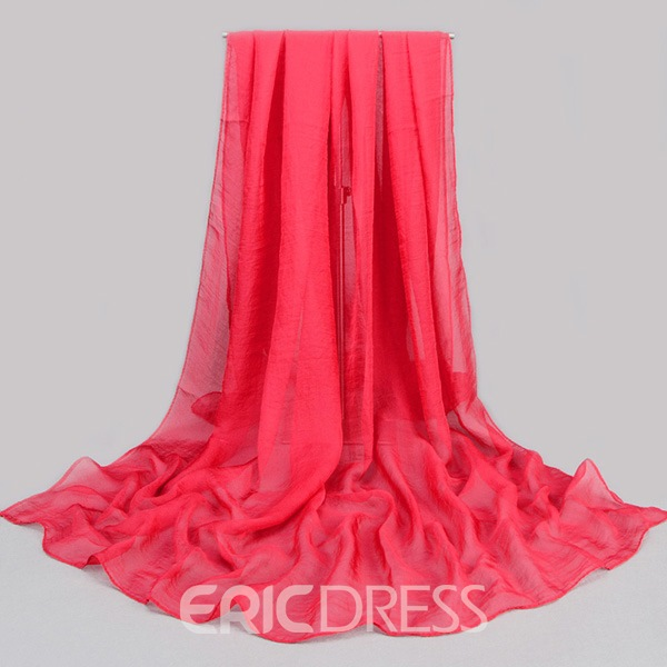 Ericdress Solid Color Chiffon Scarf