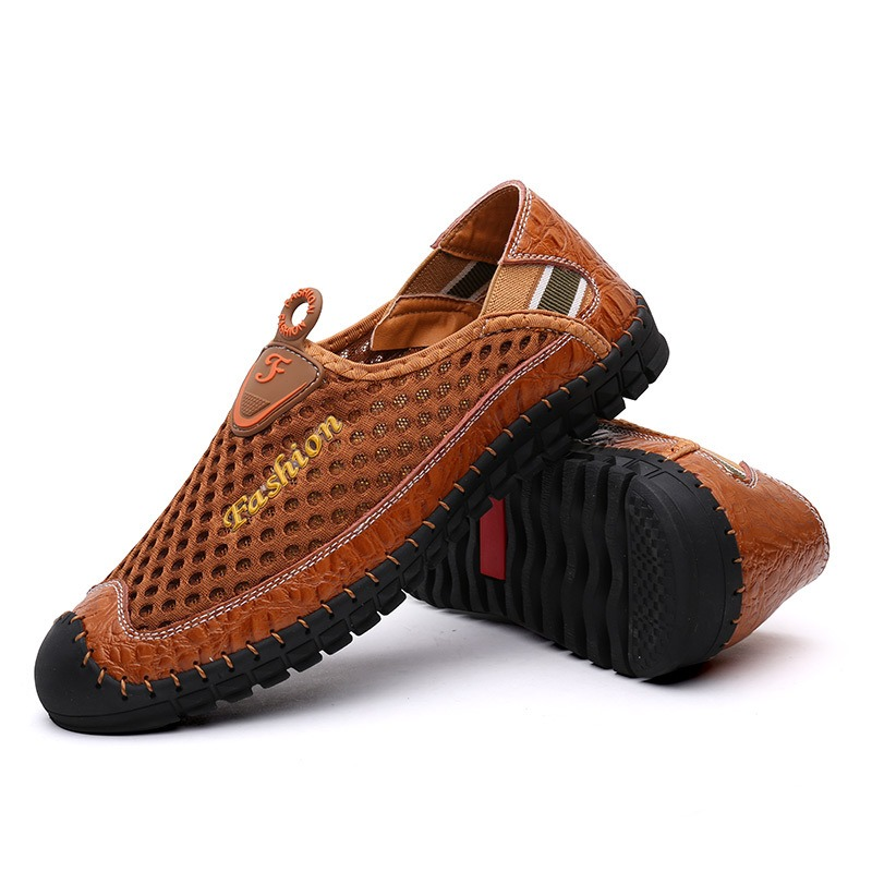 Ericdress Mesh Cut out Round Toe Men's Casual Shoes