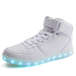 Ericdress Round Toe Hollow Velcro LED Mens Sneakers фото