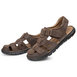 Ericdress Cut out Flat Heel Buckle Velcro Men's Sandals