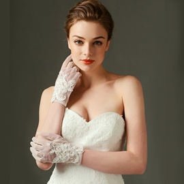 Ericdress Beautiful Short Lace Bridal Gloves