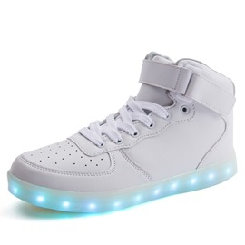 Ericdress Round Toe Hollow Velcro LED Men's Sneakers