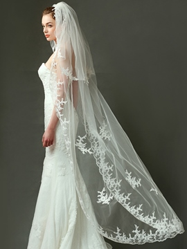 Ericdress Beautiful Long Lace Wedding Veil