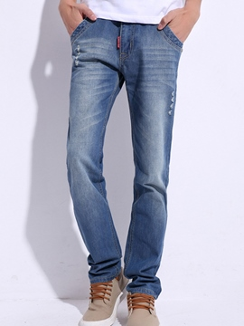 Ericdress Worn Loose Casual Men's Jeans