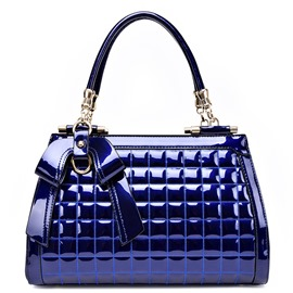 Ericdress Shiny Plaid Bowknot Handbag