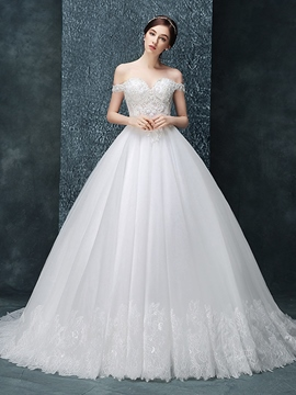 Ericdress Beautiful Off The Shoulder Ball Gown Wedding Dress