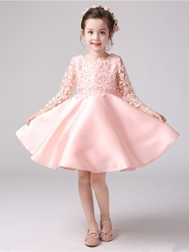 Ericdress Ball Gown Long Sleeves Knee Length Flower Girl Party Dress