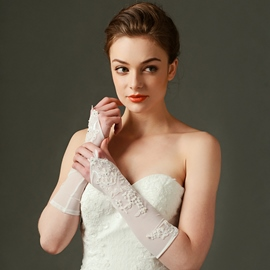Ericdress Simple Long Wedding Gloves