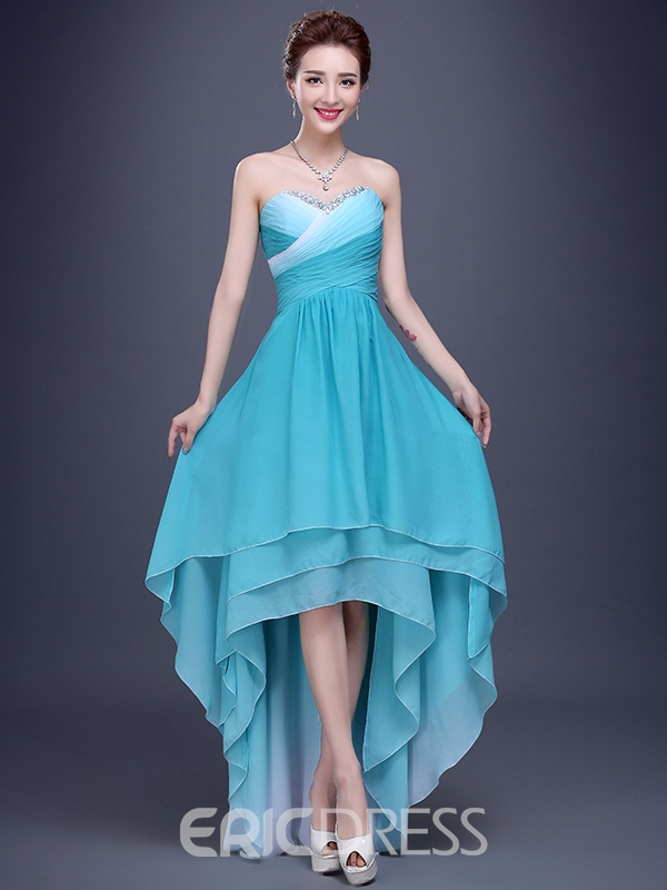 Ericdress Beautiful Sweetheart High Low Bridesmaid Dress