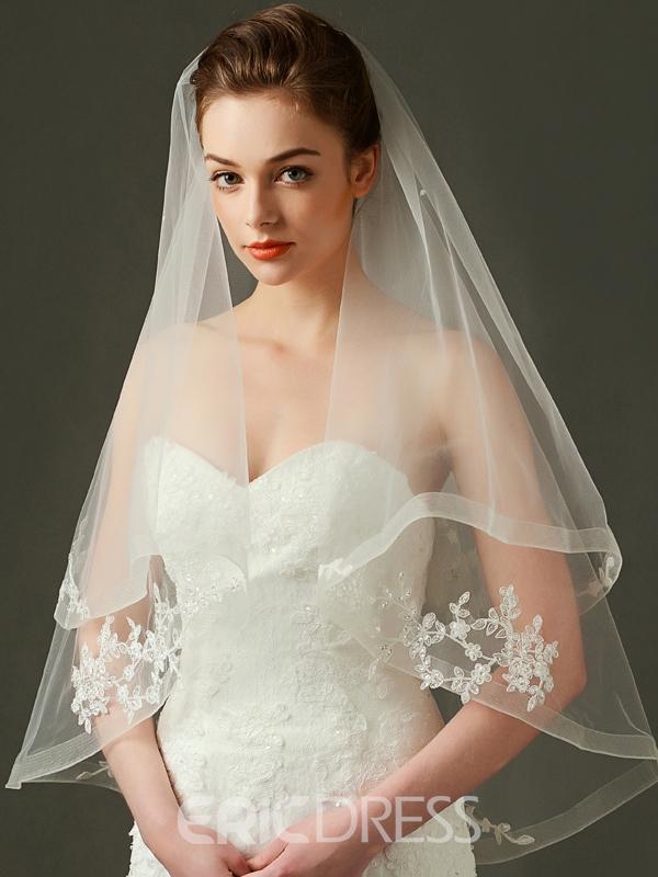 Ericdress Beautiful Appliques Two Layers Wedding Veil