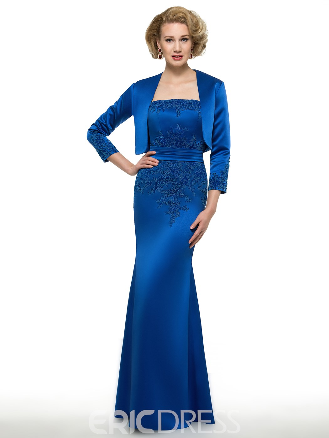 Ericdress Modest Strapless Long Mother Of The Bride Dress With Jacket