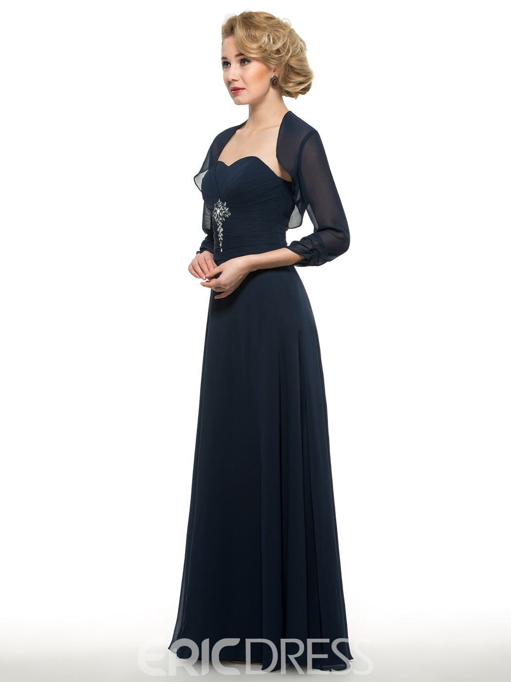 Ericdress Simple Sweetheart A Line Long Mother Of The Bride Dress With Jacket