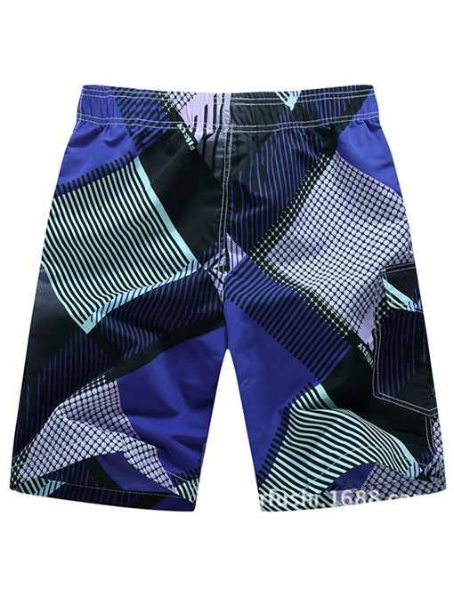 Ericdress Stripe Loose Mens Beach Shorts