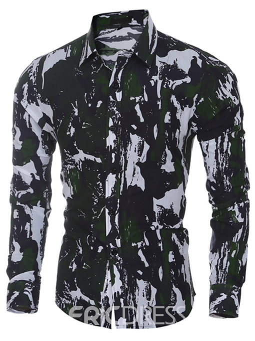 Ericdress Quality Camouflage Print Slim Casual Men's Shirt