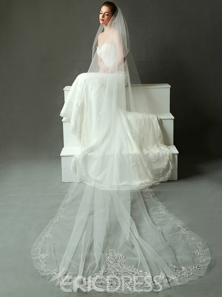 Ericdress High Quality Long Wedding Veil