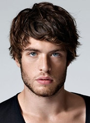 Ericdress Short Layered Wavy Synthetic Hair Men Capless Wigs фото