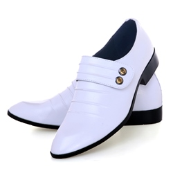 Ericdress Chic Plain Point Toe Mens Oxfords