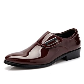 Ericdress Popular Patent Leather Point Toe Men's Oxfords