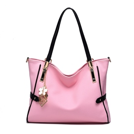Bolso de la PU de Ericdress Vogue Color sólido