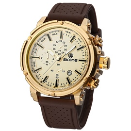 Ericdress JYY Leisure Round Dial Men's Watch with Calendar