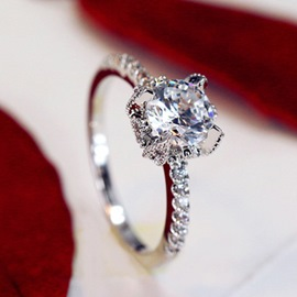 Simulation 1 Carat Imitation Diamond Wedding Ring