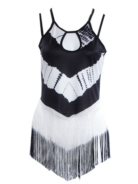 Ericdress Color Block Slim Tassel Vest