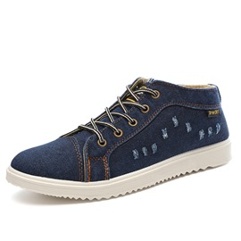 Ericdress Denim Lace up Men's Canvas Shoes
