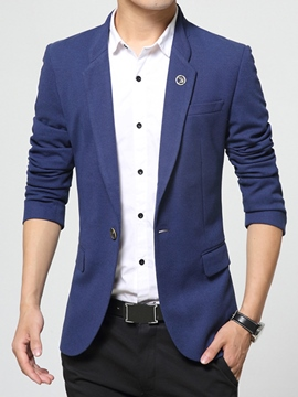 Ericdress Solid Color Elegant Slim Men's Blazer