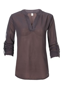 Ericdress V-Neck Plain Standard Loose Blouse