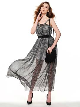 Ericdress European Spaghetti Strap Ankle-Lenght Maxi Dress
