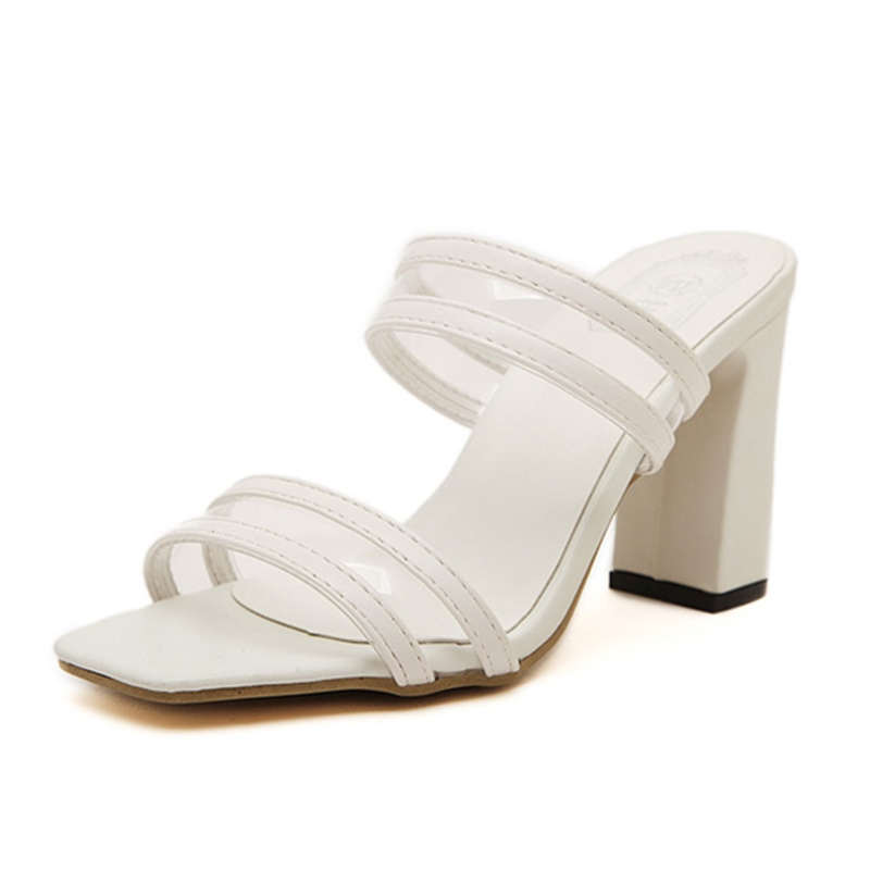 Ericdress Transparent Chunky Mules Shoes