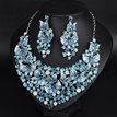 Exaggerated Colored Flowers Jewelry Set