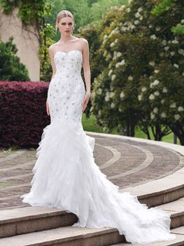Ericdress Sweetheart Beaded Mermaid Wedding Dress